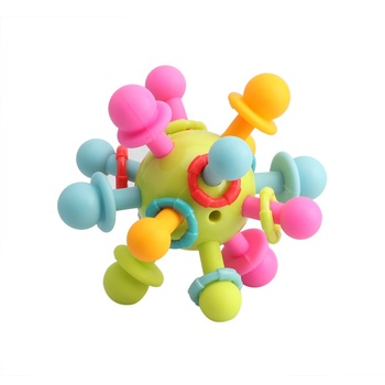 2019 Amazon Ball Toy Rattles Develop Baby Intelligence Activity Teether Toy