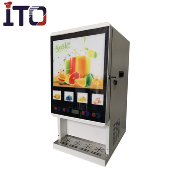 J-40S Four flavors hot and cold powder drink dispensers machine