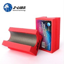 Z-LION Diamond Hand Pads Foam Backer U Style Electroplated Hand Polishing Pad Stone Metal Hard Alloy Grinding Block