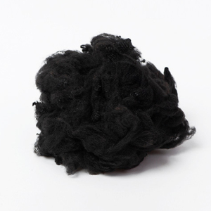 15d*64mm Black polyester short cut fibres staple recycle for nonwoven textile