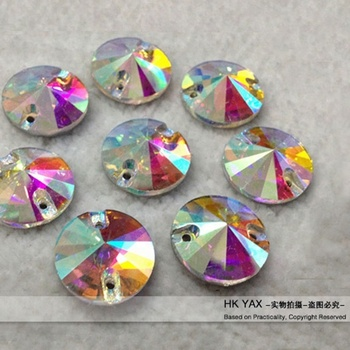 S0803 high end sew on glass rhinestones,ab glass rhinestone for clothing,sew on glass rhinestones