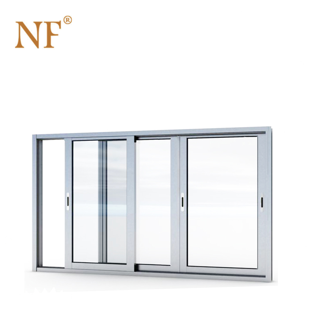 Air tight seal aluminium sliding window with mesh screen