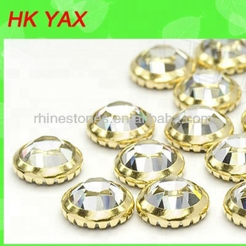 S0903 YAX Hot Fix Metal Rim Rhinestone