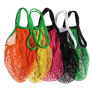 Organic Handbag Large Totes Fruit Mesh Cotton bag