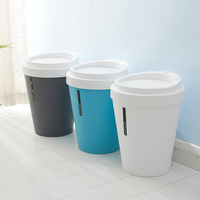 2019 new product coffee cup 5L mini desktop rolling cover trash can for office home
