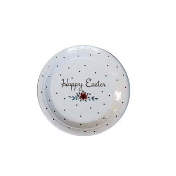 China wholesale black dot white background decoration holding food healthy environmental paper plates