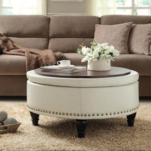 New design coffee table ottoman storage round ottoman stool for living room <strong>furniture</strong> and hotel