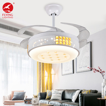 Flyinglighting fancy chandelier invisible led ceiling fan with light and remote control