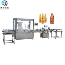 JB-YG4 Automatic bottled juice, milk filling and capping machine for 50ml 200ml