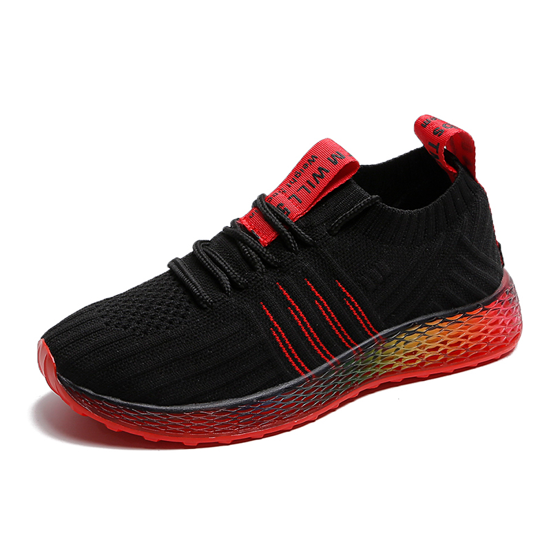 Wholesales Wear-Resisting fashion Fly knitted sport shoes man