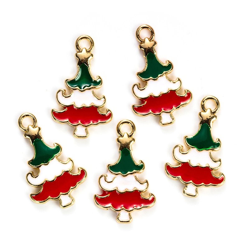 hot selling 10pcs fashion jewelry alloy christmas tree custom <strong>charms</strong> for jewelry