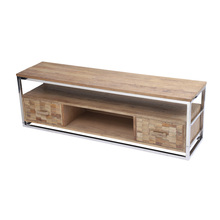 Metal recycled wood new model tv stand living room <strong>furniture</strong>