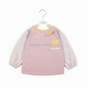 personality style waterproof pure cotton long sleeve bib