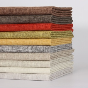 high quality colorful 2 tone imitated linen 100% polyester linen look sofa upholstery fabric