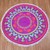 Personalized microfiber beach round towel wholesale