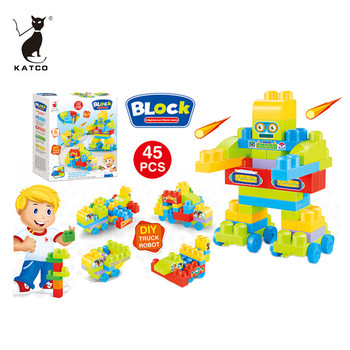 Wholesale Educational Puzzle Blocks 45 PCS Bricks Building Toys Set