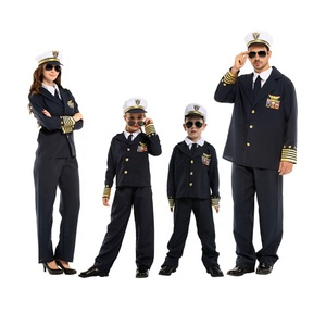 Famaily Role-playing Captain Police Cosplay Carnival Costume For Kids Adult Girls Boys