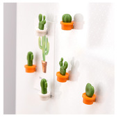 New Creative Cactus Message Paste Fridge Magnets Tourism Souvenirs for Decorative