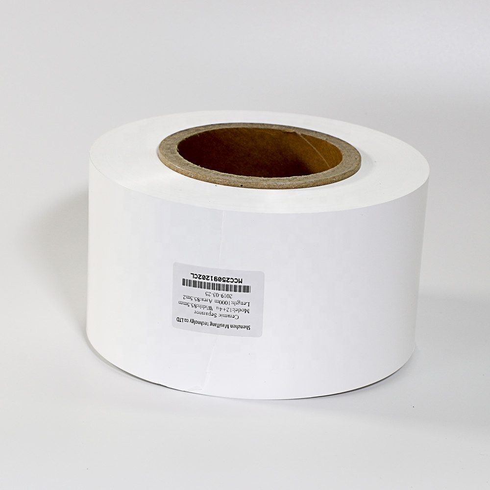 China High Quality Ceramic Coated Membrane (12um thick <strong>x</strong> 60mm <strong>W</strong> <strong>x</strong> 500m L ) as Separator of Li-ion Battery
