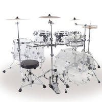 Good quality musical instrument acoustic acrylic 7pieces drum set