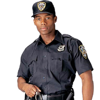 Design Classic black Color Security Guard Uniform Shirts