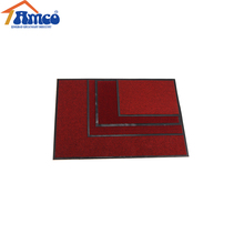 <strong>PVC</strong> backing needle punched double rib door mat/ single color ribbed polyester door mat with <strong>pvc</strong>