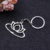 New design Wholesale cheap custom sliver Lotus shaped hollow  keychains for souvenir