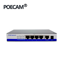 48V Passive POE <strong>injector</strong> 5Port 100Mbps Switch hub POE Switch Fast Ethernet For Ip Camera Poe
