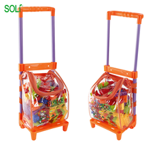 Pull Car Backpack Early Learning Infant block Toy Plastic building block build toy