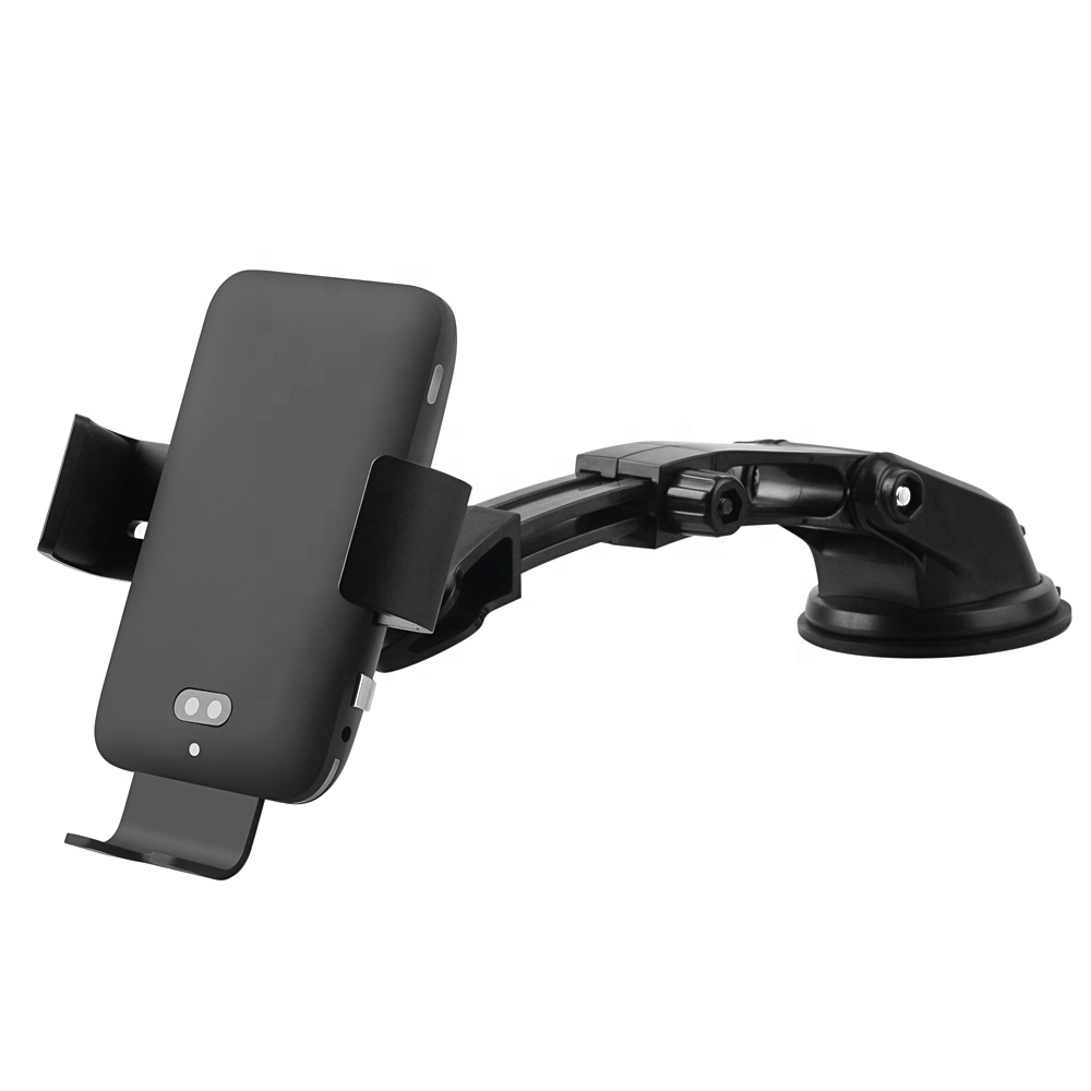 Qi Certified <strong>C12</strong> Voice Control Wireless Car Charger With Infrared Sensor Car Holder Fast charge 7.5W,10W