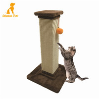 Best Square Pet Cat Scratching Post Board Cat Climbing Tower Trees With Ball