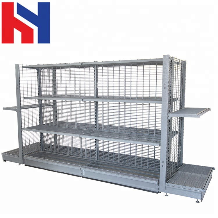 SGS certification European style Back Wire gondola display metal wire shelf <strong>rack</strong>