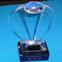 Custom made Acrylic trophy OEM wholesale engraved logo made in China