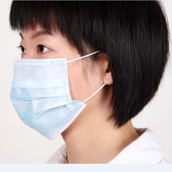 3-ply Disposable Earloop Face Masks Fluid Resistant  Masks