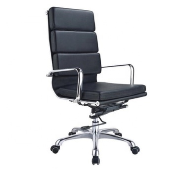 Free Sample Modern Simple High-back Luxury Swivel Executive High-elasticity Synthetic Leather Office Chair
