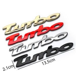 Turbo logo Car Body Sticker for Subaru STI Peugeot 308 BMW Mini Cooper Mercedes Skoda Vauxhall Camry Chrome Trunk Lid Emblem