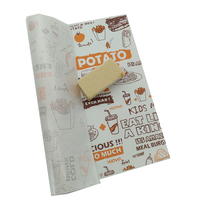 cheap price wax coated white kraft logo printed disposable food paper