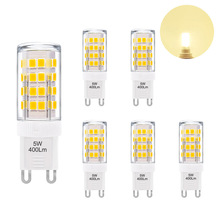 G9 GU9 LED Light <strong>Bulbs</strong> Capsule <strong>Bulbs</strong> Small Corn Light <strong>Bulbs</strong> Warm White 3000K 400Lm AC110-120V Replace 40W G9 Halogen Lamp 6 Pack