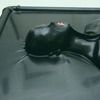 sexy latex rubber fetish Vacuum bed