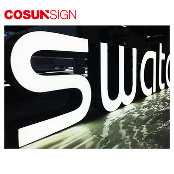 High bright front illuminated LED epoxy resin letter for