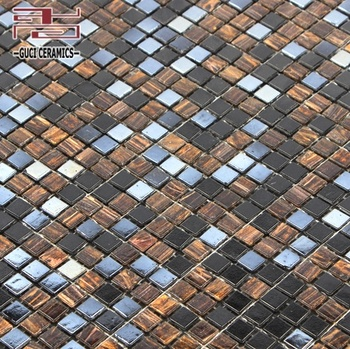 China factory supply mixed glass Hot - melt mosaic floor wall tile design