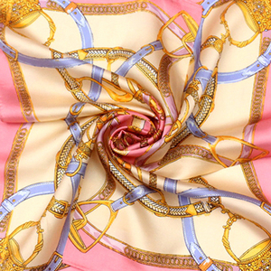 Fashion Style Soft Feeling Solid Color printed silk satin scarf