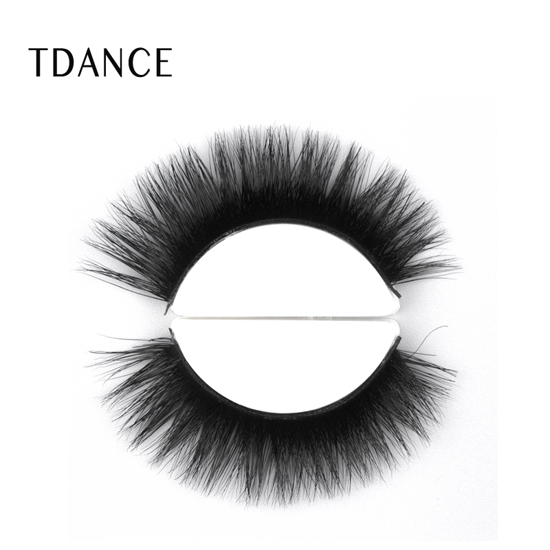 Black Cotton Band <strong>A08</strong> 3D Mink Fur Long Thick Mink Strip Natural Makeup 3D Mink Eyelashes