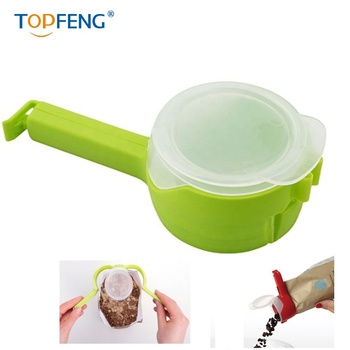 Seal And Pour Eco-Friendly Bag Clips Clamps Compact Food Storage Gadget With Dischargeable Nozzle
