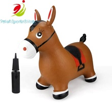Hot sale Inflatable jump animal Product bouncy hopper horse for kids riding outdoor indoor