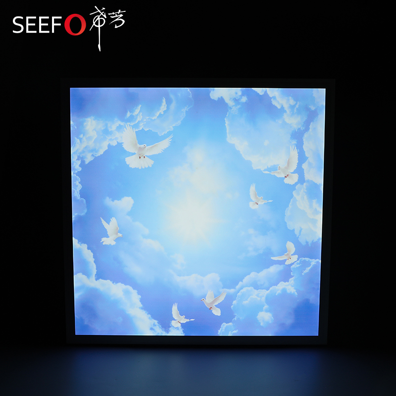 Manufacturer Selling Virtual Frame 595*595mm 48w LED <strong>Flat</strong> Skylight Ceiling Panel