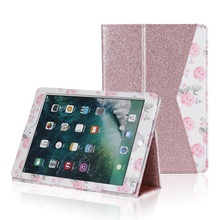 "Leather PU case for iPad air pro 9.7"" Soft Leather Wallet Smart Cover with Sleep/Wake Tablet Flip Case for Samsung"