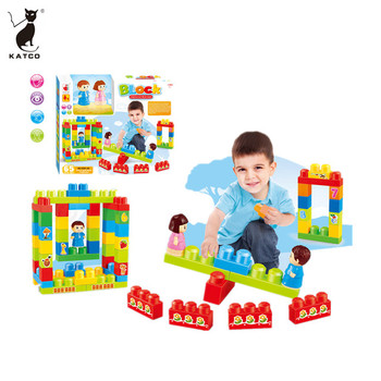 Top Rate Item DIY Educational Puzzle Blocks 65 PCS Bricks Building Toys Set