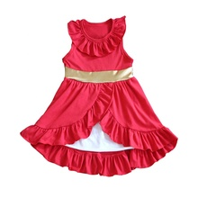 Latest Designs Children <strong>Dress</strong> Solid Red Color Plain Dye Sleeveless Girl Cotton Summer <strong>Dress</strong> Baby Girls <strong>Party</strong> <strong>Dress</strong>
