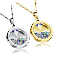 Best Selling Products In America Stainless Steel Glass Pendant Jewelry Birthstone Charm Design